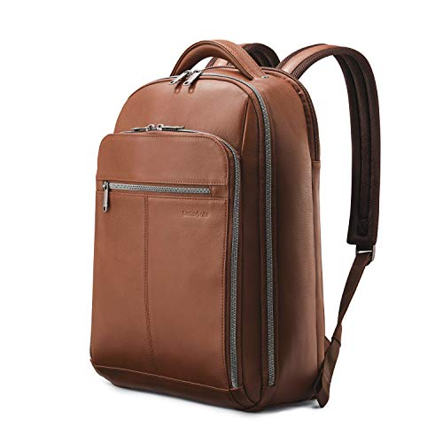 Samsonite Classic Leather Backpack, Cognac, One Size