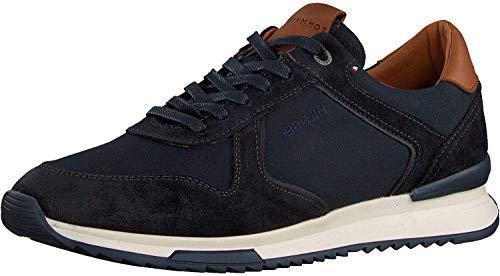 Tommy Hilfiger Runner Craft Mix - Zapatillas deportivas para hombre, color azul, color Azul, talla 42 2/3 EU