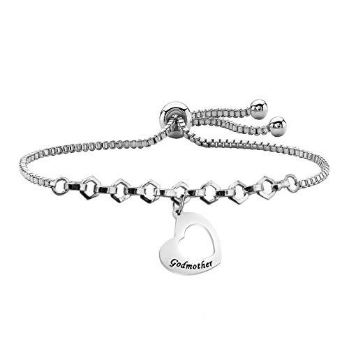 Goddaughter Bangle Bracelet Goddaughter Gift Religious Jewelry Baptism Communion Gift for Goddaughter (godmother bracelet)