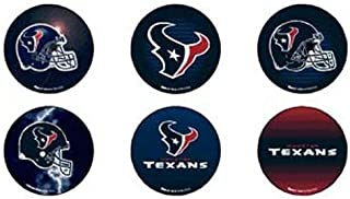 WinCraft NFL Houston Texans WCR09525021 Round Button (6 Pack), 2