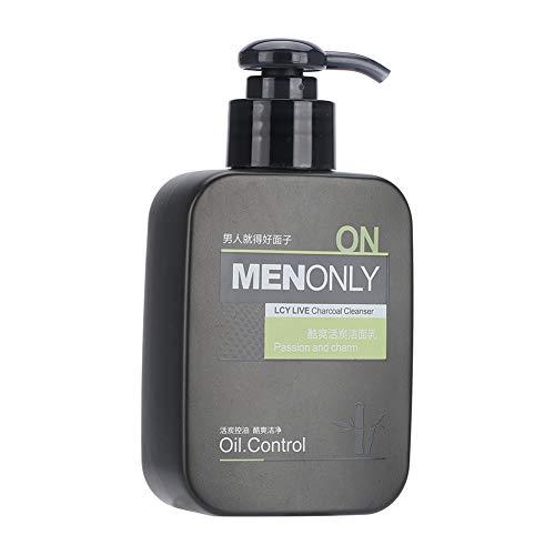 Nettoyant pour le visage pour hommes, 168ML Professional Men Oil Oil Control Deep Skin Cleaning Means Cleanser pour les soins de la peau et l'élimination des points noirs