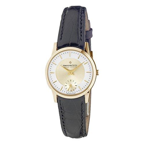 Dreyfuss & Co DLS00002/03 - Reloj para Mujeres, Correa de Cuero Color marrón