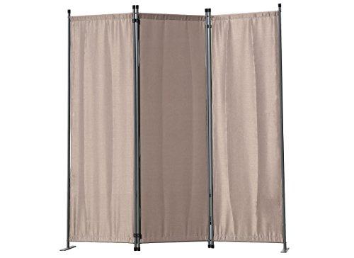 Angel Living Biombo Separador de 3 Paneles, Decoración Elegante, Separador de Ambientes Plegable, Divisor de Habitaciones, 169X165 cm (Marrón)