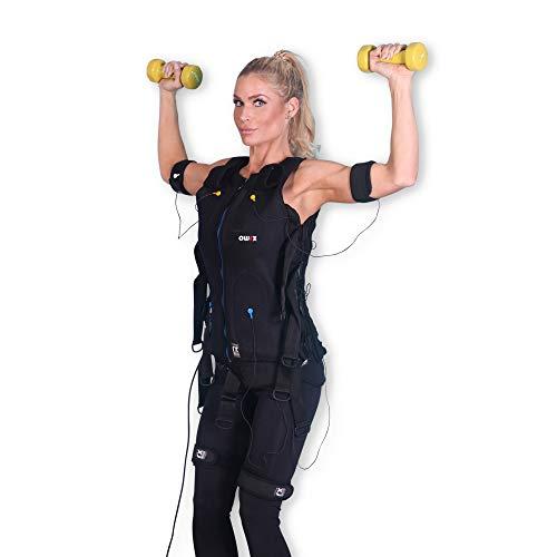 POWRX EMS Weste Premium I Anzug inkl. Elektroden I Professionelles EMS Training für Studio- und Heimgebrauch Muskelaufbau und Körperfettreduktion I Für Mann und Frau (Mann I Blau I XS)