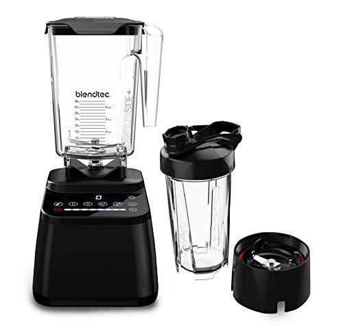 Blendtec Designer Series Blender-Wildside+Jar (90oz) & Go Travel Bottle (34oz) Bundle- Professional-Grade Power - Self-Cleaning - 6 Pre-programmed Cycles - 8-Speeds - Sleek & Slim - Black