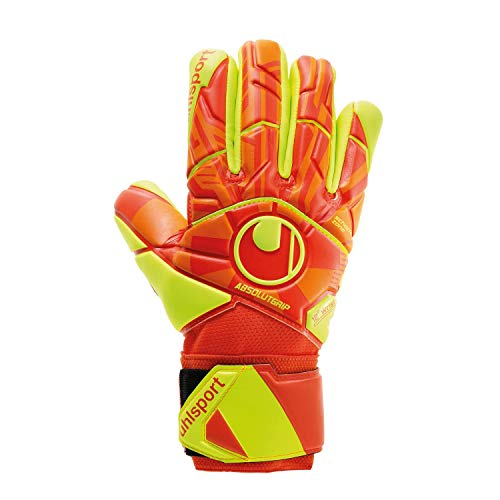 uhlsport Herren Impulse ABSOLUTGRIP HN Torwarthandschuhe, Dynamic Orange/Fluo Gelb, 11