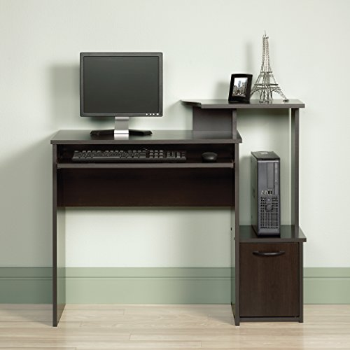 Sauder 408726 Beginnings Computer Desk, L: 39.61 x W: 19.45 x H: 34.02, Cinnamon Cherry finish