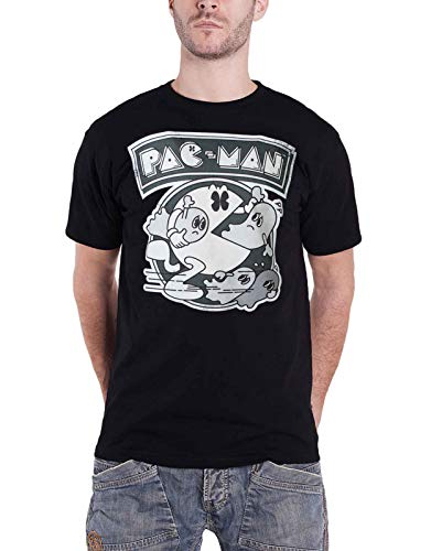 Pacman - Running Ghosts Men's T-Shirt Black-XL