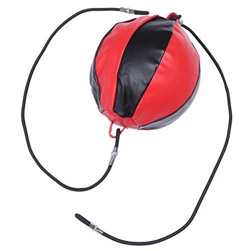 BESPORTBLE Bolsa de velocidade de boxe, bola de velocidade para pendurar, boxe, esportiva, saco de pancada, bola de treinamento de velocidade para fitness, luta e treino (vermelho)