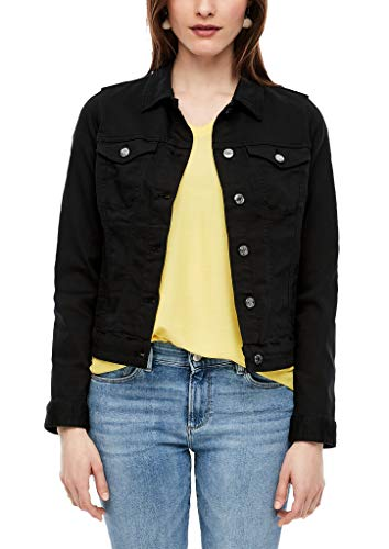 s.Oliver RED Label Damen Jeansjacke in Unicolor Black 40