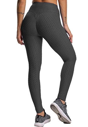 FITTOO Leggins Sportivi Donna Push up Pantaloni Tuta Yoga Pants Sexy Fitness Ginnastica Alta Elastico, XXL, Nero