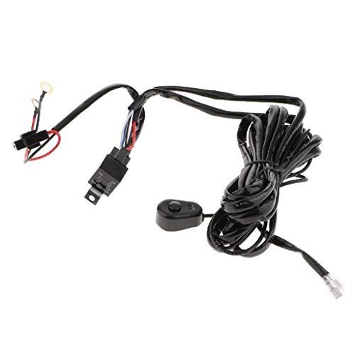BXU-BG Heavy Duty arnés de cableado Kit for la luz llevada bar12V 40A Fusible de relé de encendido/apagado del relé 118inch Longitud universal del mobiliario barra ligera Accesorios