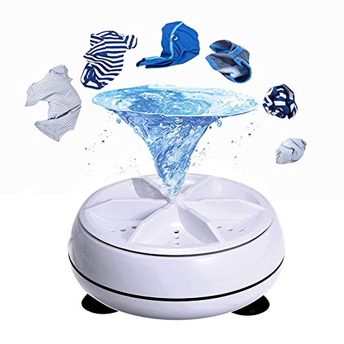 Mini Washing Machine, Portable Compact Laundry Ultrasonic Turbine, USB Washing Machine Laundry Cleaner Tool for Camping Apartments Dorms College Rooms