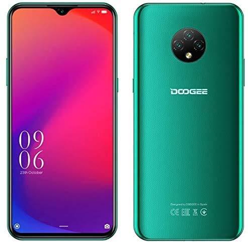 Moviles Libres, X95 Smartphone Libre 2020, 6.52 Pulgadas Pantalla 4G Teléfonos, 4350mAh, teléfono Inteligente Android 10.0, 16GB ROM, 128GB SD, Tarjeta SIM Dual Face ID (Verde)