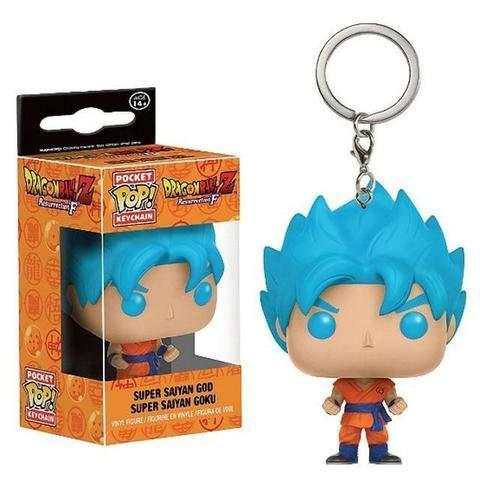 Llavero con diseño de anime Mangas Dragon Ball Z Top Bobbleheads Goku-Vegeta (azul sayan)