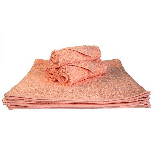 Super absorbantes, épais et moelleux Serviette de Visage – Idéal pour la maison ou Spa, B & B, à l'hôtel et Hôtel Utilisation – 500 g/m² – 100% coton – 30 cm x 30 cm – Pêche