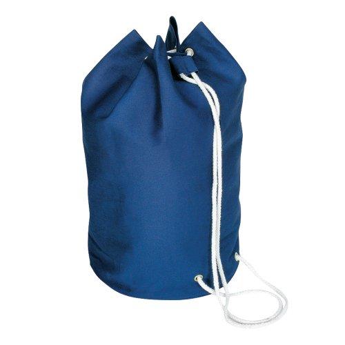 eBuyGB - Borsone da marinaio in tela di cotone, con coulisse, colore: Blu