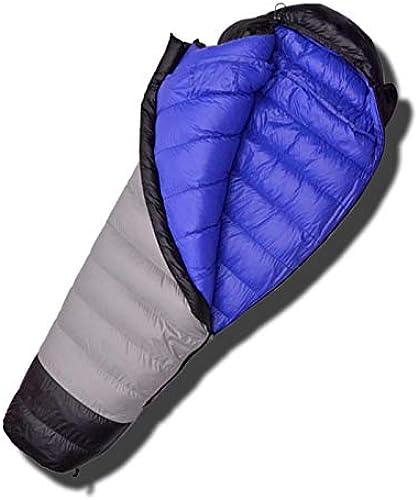 Duvet d'oie Blanche Ultra-léger remplissant 1200G Sac de Couchage Confortable pour Camping Sac de Couchage Sac de farniente