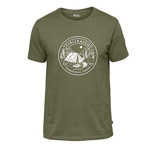 FJÄLLRÄVEN Herren T-Shirt Lägerplats, Green, XL, F81950-620