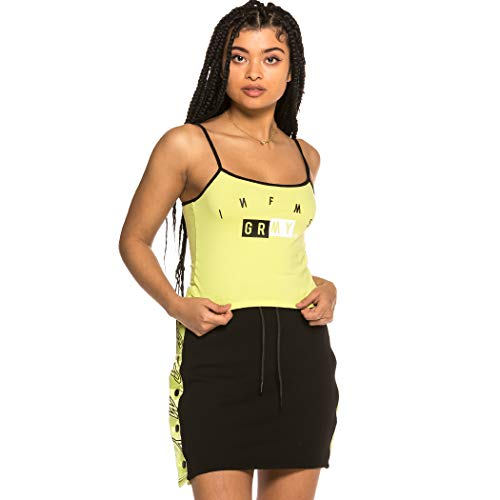 GRIMEY Camiseta Chica F.A.L.A. Girl Top SS19 Lime-M