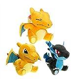 WYYHYPY 3 unids/Set Pokemon 20cm q Mega Charizard xy Anime muñecas de Felpa para niños Muñeca para niños Baby Baby Gifts Toys Peluche de Pokemon