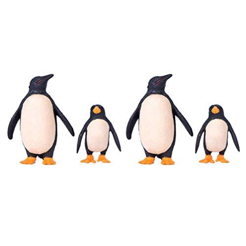Tomaibaby Mini Pingüino Figuras Pingüino Miniatura Juguete Animal Estatua Decoración para Micro Paisaje Jardín Hogar Adornos de Escritorio Negro Blanco