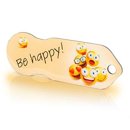 inköpsvagenlösning Code24 Be Happy, nyckelring med inköpscip & nyckelhittare, inklusive registreringskod för nyckelfondservice, kundvagnschip med profil djupkniv