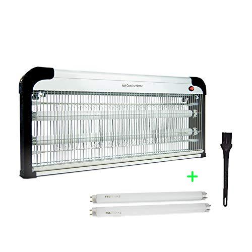 Concise Home and Insect Killer 20w/30w/40w luz UV atraer a Zap insectos voladores plata, con 2 tubos de regalo