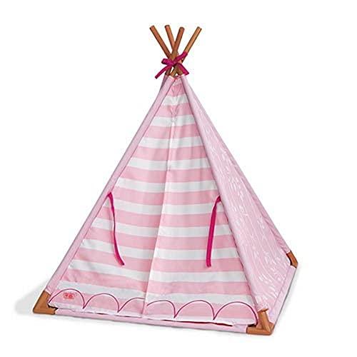 Our Generation 70.37209 Mini Suite Teepee Juego de Accesorios de Juguete, diseño a Rayas, Rosa para una muñeca de 46 cm