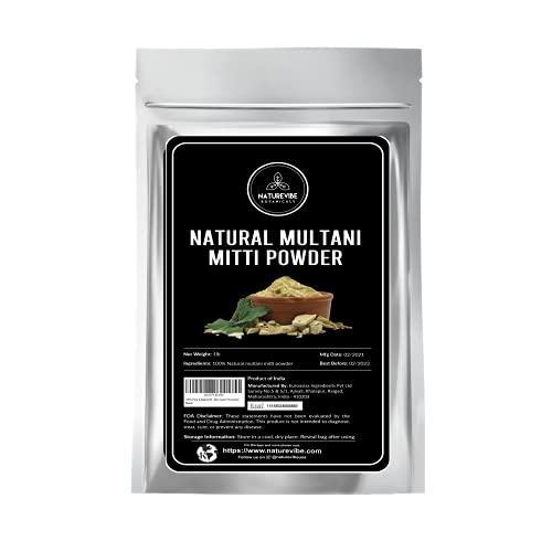 Naturevibe Botanicals 100% Pure & Natural Multani Mitti Powder | Fullers Earth Powder (Indian Bentonite Clay) 1lb (16 ounces)
