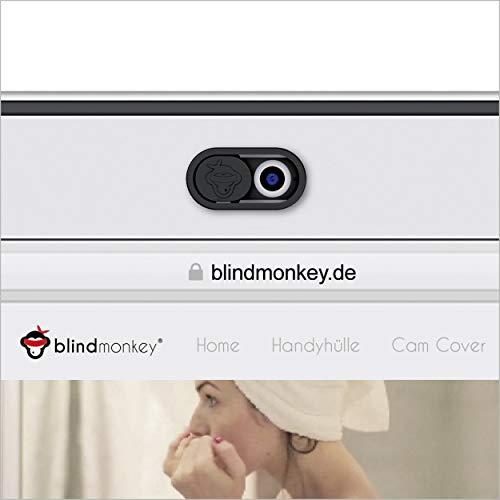 blindmonkey Webcam Abdeckung 5er-Set, Anti Spy Cam Cover - Webcam Cover für Laptop, Tablet, SmartTV, Handy, Smartphone und mehr - Kamera Sichtschutz, Kameraabdeckung, Spionageaschutz
