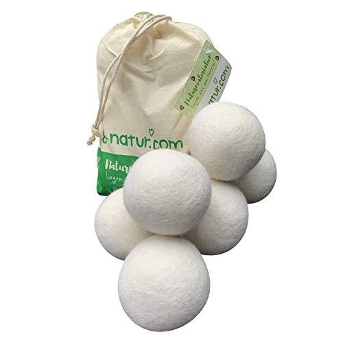 extragrande XXL de bolas de secado de 8de Natural en pack de 6–la alternativa natural a la química de 100% Lana Merino. Suave Toallas de mano ENVÍO más rápido de la secadora.