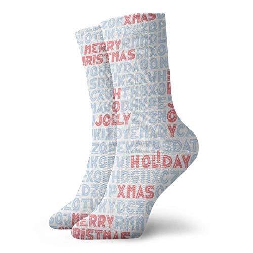 Calcetines Deportivos,Ocasionales Calcetines,Alto Rendimiento Sports Socks,Divertido, Alegre Y Colorido De Navidad Disfrute...