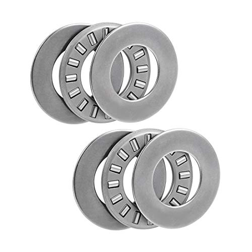 uxcell Tc815 Needle Roller Thrust Bearings with Washers 1/2-inch Bore 15/16-inch Od 5/64-inch Width 19000rpm Limiting Speed 2pcs