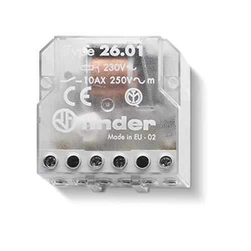 Finder 260182300000- Telerruptor/interruptor unipolar encast