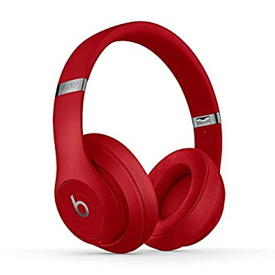 Beats Studio3 Wireless Noise Cancelling Over-Ear Headphones - Apple W1 Headphone Chip, Class 1 Bluetooth, Active Noise Cancelling, 22 Hours Of Listening Time - Red (Previous Model) from Apple Computer