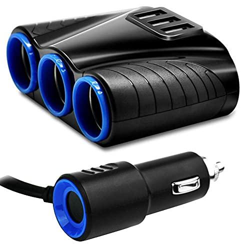 GAOJIA USB Adaptador de alimentación del Cargador Suministros de Piezas de automóviles 12-24V 3 vías Coche de Cigarrillo de Cigarrillos Splitter