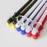 Corrugated Reusable Drinking Straws with Caps (Assorted Colors, 11 in.) [12 Pack]