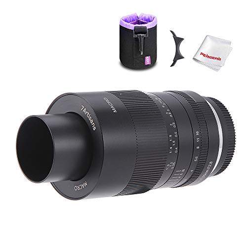 7artisans 60mm F2.8 APS-C Macro Lens, Manual Focus Fixed Lens for Micro Four Third, M4/3 Mount Mirrorless Cameras Mirrorless Cameras W/Lens Pouch Bag & Focus Wrench, Black