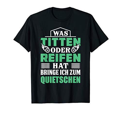 Herren T-Shirt Autos & Sex - Mechaniker Titten versaut Witz Spruch
