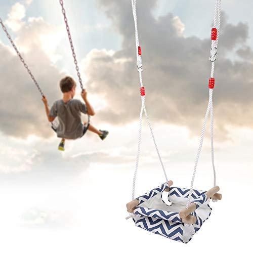 DD&Eren Elevadores de Columpio para niños 60KG Hamaca Bebé Seguro Lona Colgante Asiento de Columpio Juguete para niños pequeños Interior al Aire Libre