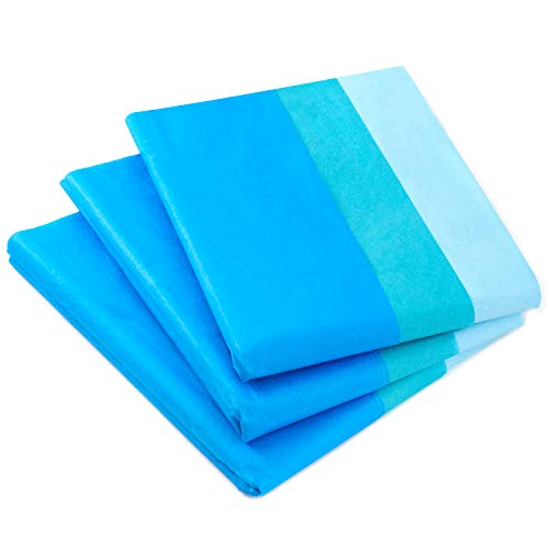 Hallmark Royal Blue, Turquoise and Light Blue Bulk Tissue Paper (120 Sheets) for Gift Bags, Father's Day, Hanukkah, Graduations