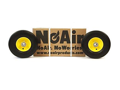 """NoAir (2) Flat Free Tire Assemblies 9x3.50-4 Fits John Deere 38"""" 48"""" 54"""" AM115510"""