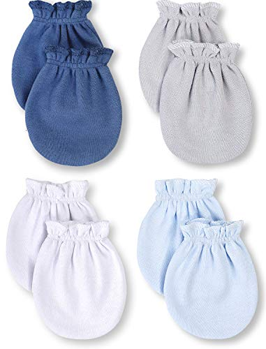 Baby Mittens Newborn - 100% Organic Cotton, Soft No Scratch Gloves - Hypoallergenic Infant Hand Mittens with Elastic Wrist - Cute Mitts for Boy or Girl 0-6 months