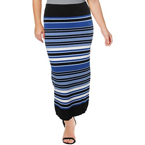 LAUREN RALPH LAUREN Womens Striped Ribbed Pencil Skirt Black XS