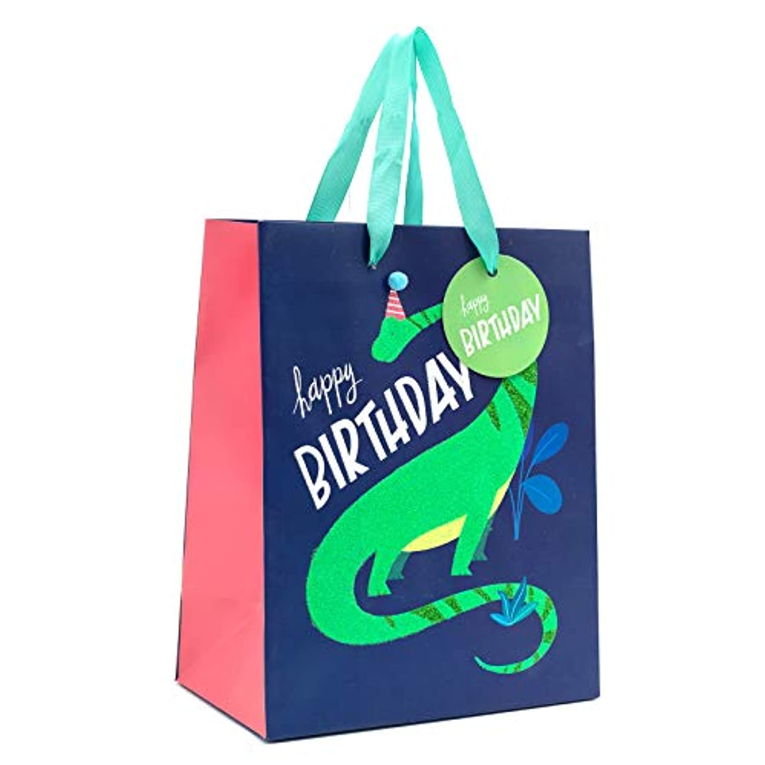 American Crafts 354093 Dino Gift Bag, Multi