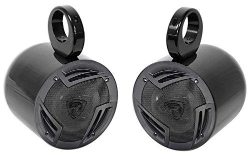 "Pair Jeep Wrangler Rockville 6.5"" 750w 3-Way Car Audio Rollbar Soundbar Speakers"