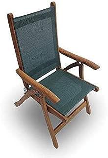 Royal Teak Collection FLMS Florida Teak Sling Chair, Moss
