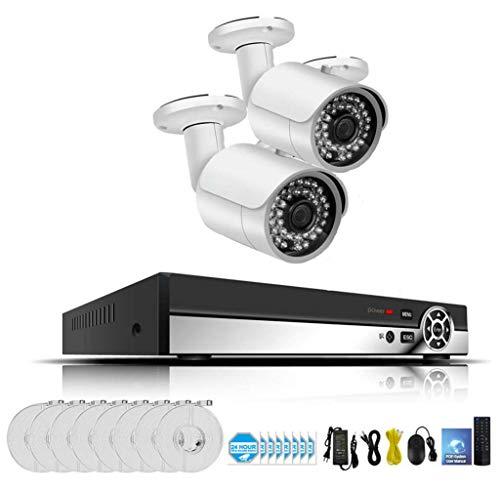 1080P Smart Home Security Camera System mit Bewegungserkennung, Nachtsicht, Innen/Außen, HD-Video, Wandhalterung, Kamera-Kit (ohne Speicherkarte),A