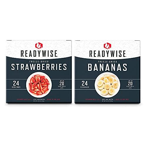 ReadyWise Freeze-Dried Fruit Box Kit   Emergency Food   48 Servings